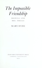 Eccles, Mary Hyde Eccles, Viscountess, 1912-2003. The impossible friendship :