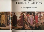 Newall, Christopher.  The art of Lord Leighton /