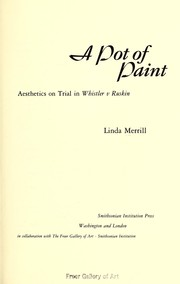 Merrill, Linda, 1959- A pot of paint :